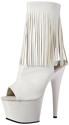 Pleaser Adore, Bottes Classiques femme, Noir, 38 EU Blanc - Wht Faux Leather/Wht