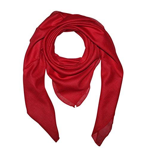 Superfreak Baumwolltuch - Tuch - Schal - 100x100 cm - 100% Baumwolle, Farbe rot
