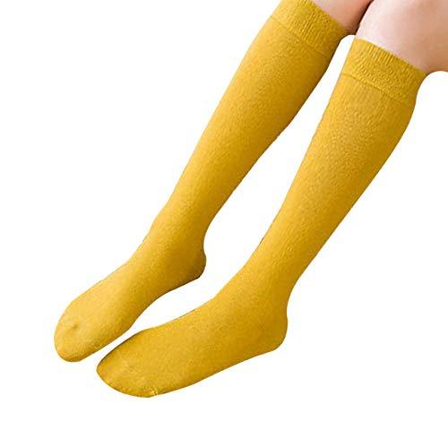 Calcetines amarillos largos de Mujer