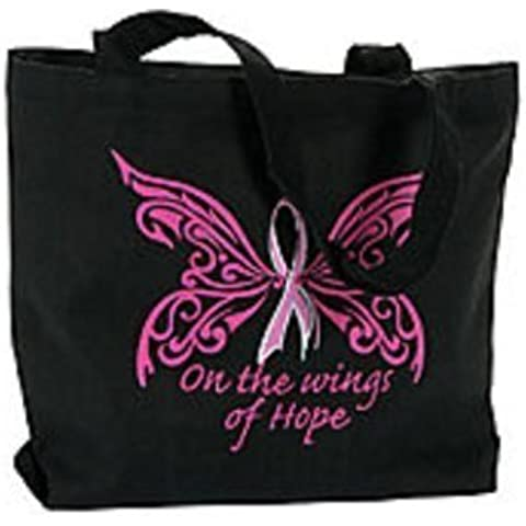 Pink Ribbon Cancer Awareness Bible Tote Bag by FX
