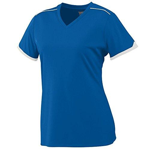 Augusta - T-shirt de sport - Femme Multicolore - Bleu roi/blanc