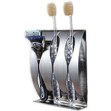 towomo dispensador de pasta de dientes automático con cepillo de dientes titular Set, manos libres altavoz (rosa)