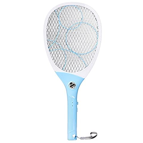 Homieco USB Rechargeable Electric Bug Large Mosquito Swatter Zapper Racket Large Insect Fly Killer Indoor and Outdoor with LED