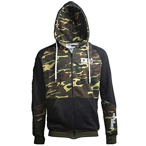 Enola Gaye Rockstar Airsoft Urban Kapuzenpullover mit Reißverschluss,  Camouflage, XL