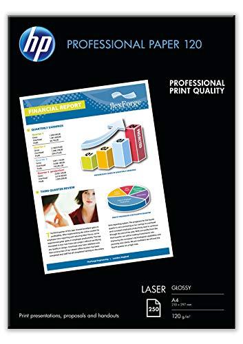 HP CG964A Professional Laser-Papier glänzend (beidseitig beschichtet) 120g/m² A4 250 Blatt, weiß -