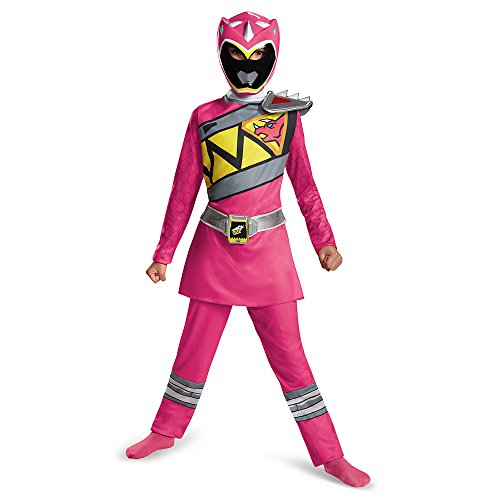 Disguise Pink Power Ranger Dino Charge Classic Costume, Medium (7-8) by - Kinder Rosa Power Ranger Kostüm