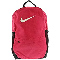 Nike Kids' Brasilia Backpack, Color Rush Pink/Black/White, Talla MISC