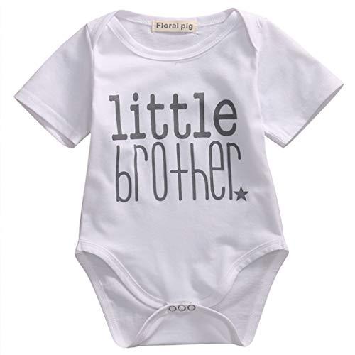 Luckiests Reizende Nette Baby-Spiel-Kleidung Kleinkind Brief Printing Jumpsuit Mädchen Big Brother Tops Little Brother Strampler (Kleinkind Mädchen Spielen Kleidung)