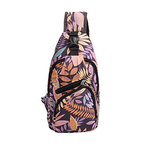 Mitlfuny handbemalte Ledertasche, Schultertasche, Geschenk, Handgefertigte Tasche,Unisex Liebhaber Mode Druck Blume Umhängetasche Umhängetaschen Brusttaschen