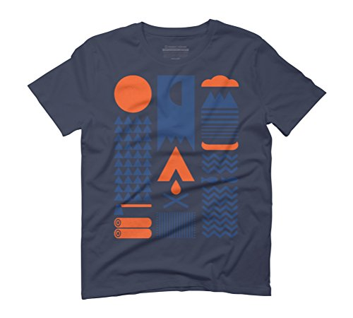 Simplify Men's Graphic T-Shirt - Design By Humans Navy