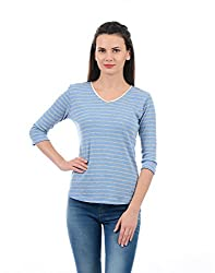 Monte Carlo Women Casual Top(_8907679593661_Blue_Large_)