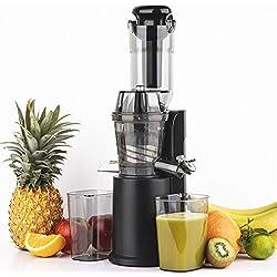 H.Koenig GSX16 Extracteur de Jus de fruit et légumes vertical compact 0,8L Inox, Centrifugeuse Vitamin+ Sans BPA, Bec d'introduction Large, Pression douce Rotation Lente, Silencieux, Système reverse