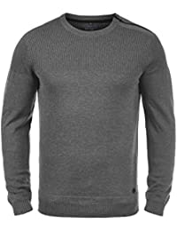 Blend Franklin Pull en Maille Pull-Over Tricot Homme Encolure Rond 100%  Coton Fermeture 80d121beea9e