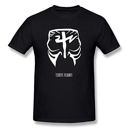 fkyceun-hombre-tech-n9ne-cara-pintura-logo-t-shirt-negro