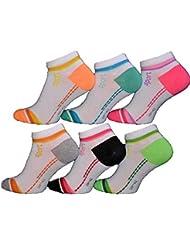 BestSale247 12 Paar Damen Mädchen Sneaker Socken Füßlinge Baumwolle 35-38 ; 39-42