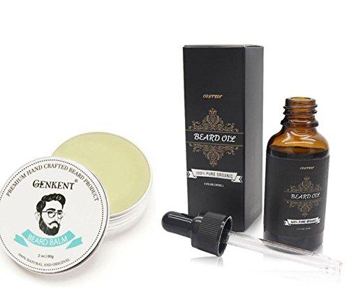 100% Natural Beard Balm Moustache Cream Beard Oil Set Conditioner Beard Balm Healthy Beard Styling Moustache Wax