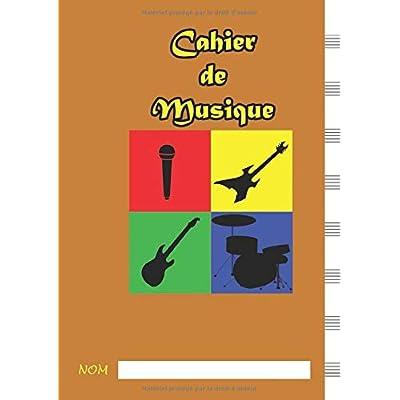 Cahier de Musique: Format A4, 21x29.7cm, 8 portées par page, 110 pages