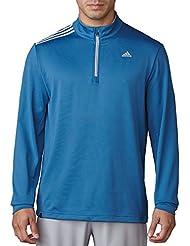 adidas 3 Stripes French Terry BC2348 Chaqueta con Cremallera de Golf, Hombre, Azul, L