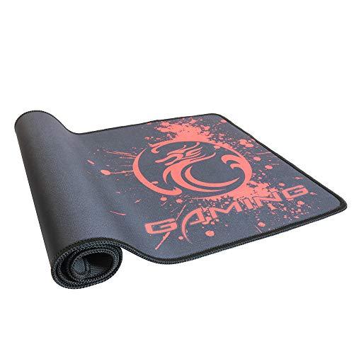 Bescita6 Übergroße Mausunterlage, Extra große XL Gaming mauspad Matte für pc laptopmacbook Rutschfeste 80 cm x 30 cm (rot)