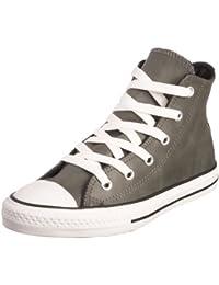 Converse - Zapatillas de cuero para niño negro gris