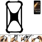 K-S-Trade Handyhülle für Allview P9 Energy Mini Schutz Hülle Silikon Bumper Cover Case Silikoncase TPU Softcase Schutzhülle Smartphone Stoßschutz, schwarz (1x)