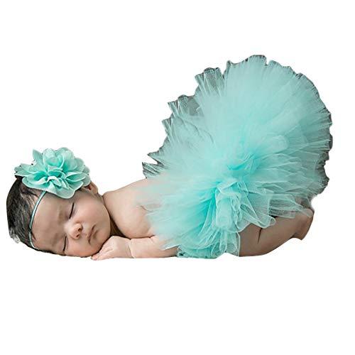 Chowcencen Neugeborenes Schießen Kostüm Retrorock Outfit Passende Haarreif Säuglings-Baby-Fotografie Props