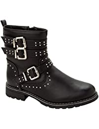 Miss Riot Ladies Girls DM style Lace Up Eyelet Combat Military Goth Ankle Boots
