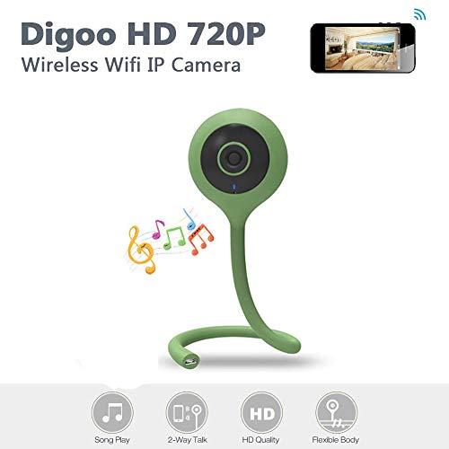 WMWHALE Baby Monitor 720 HD WiFi Kamera Nachtsichttemperatur Überwachung 10 Lullaby APP Fernüberwachungskamera für Pet Nanny Monitor,Green 1080p Multi-system