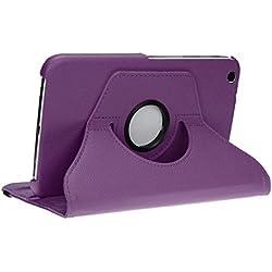 doupi Rotatif Housse pour Samsung Galaxy Tab 3 (8 Pouces), Deluxe 360 Degrés Smart Coque de Protection Simili Cuir Coque Cover et Case, Violet