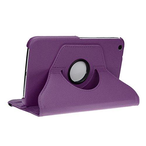 doupi Deluxe Schutzhülle für Samsung Galaxy Tab S (8,4 Zoll), Smart Case Sleep/Wake Funktion 360 Grad drehbar Schutz Hülle Ständer Cover Tasche, lila