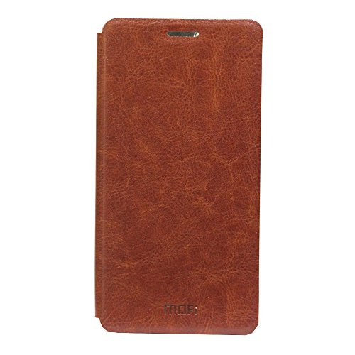 Jo Jo Mofi Leather Flip Cover Case With Slim Back Stand For Microsoft Lumia 950 Brown  available at amazon for Rs.140