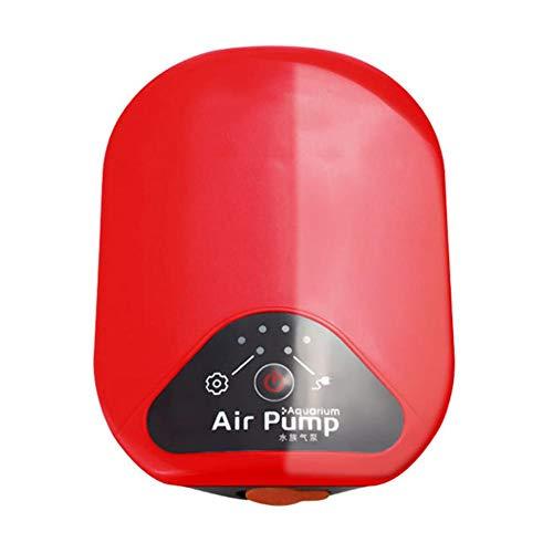 kaikki Pompa di Ossigeno per Acquario Pompa di Ossigeno per Pesca Dual Motor Silenzioso Portatile per aerazione Batteria al Litio di Grande Potenza Tempo di utilizzo prolungato