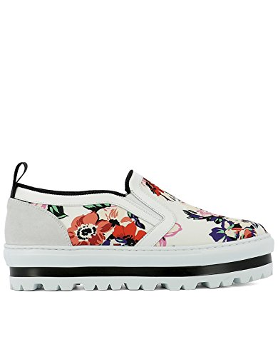 MSGM SLIP ON SNEAKERS DONNA 2241MDS08008 TESSUTO MULTICOLOR