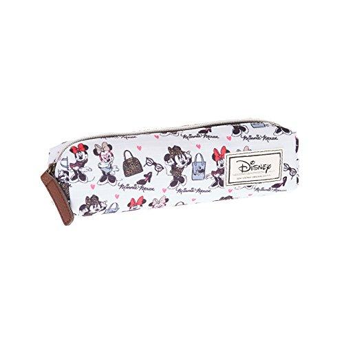 Minnie Mouse- Estuche portatodo Cuadrado, Color Blanco, 22 cm (Karactermanía 33603)