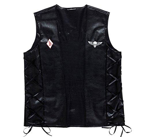 r Weste Outlaw im Lederlook (Biker-halloween-kostüme)