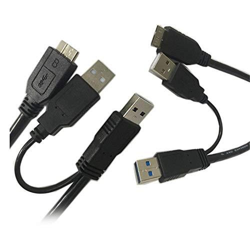 Preisvergleich Produktbild 3.0 Kabel Micro USB Y Kabel Typ A Stecker auf Micro B Ladekabel Datenkabel bis 5 Gbit / s mit USB A Stromversorgung,  USB 3.0 Externe Festplatten usw 0.5 m Länge