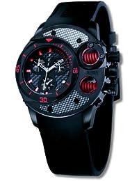 Offshore Limited Commando 003 B - Reloj cronógrafo de cuarzo para hombre, correa de silicona color negro (cronómetro)
