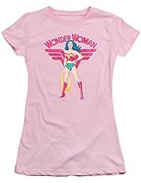 Justice League Wonder Woman Sparkle Juniors Short Sleeve Shirt