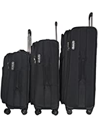 7c462732101 Texas USA - Exclusive Range of Imported Soft Luggage Trolley - Set of 3 -  20 inch Cabin - 24 and 28 inch Check in…