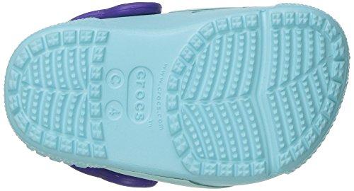 Crocs Crocsfunlab Lights Tcan/Iblu, Zoccoli Unisex – Bambini Multicolore (Toucan/Ice Blue)