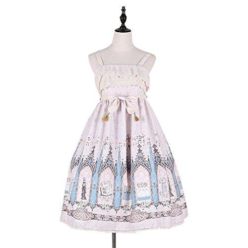 �dchen Bubble Skirt Lolita Prinzessin Royal Sling Dress (Pink, S) (Teen Maskerade Kleider)