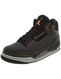 uk availability c5cfa 12f50 NIKE Mens Air Jordan 3 Retro Fear Pack Night Stadium Total Orange-Black  Suede