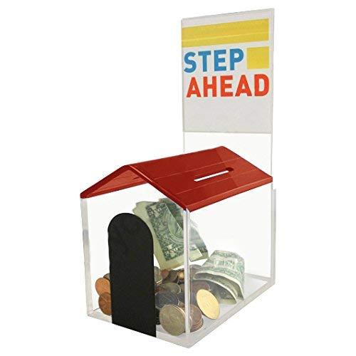 My Charity Boxes-House-la donazione, in scatola per esposizione con superficie con lucchetto e 2 chiavi {rosso}]