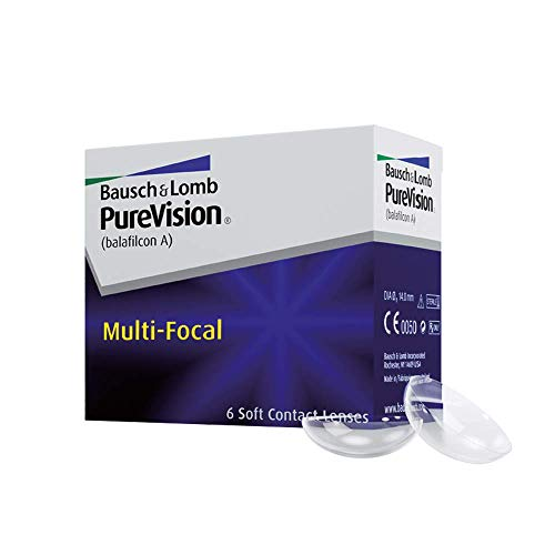 Purevision Multifocal Monatslinsen weich, 6 Stück / BC 8.6 mm / DIA 14.0 / HIGH ADD / -5,75 Dioptrien