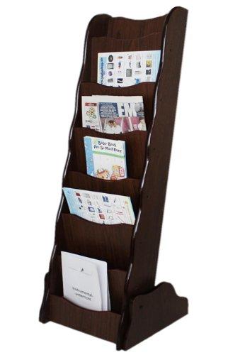 Yudu Zeitungständer Magazinständer Prospektständer mit 7 Fächern