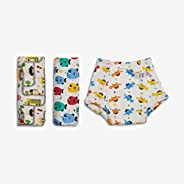 SuperBottoms Padded Underwear (Potty Training Pants) (Multi- Coloured, Size 2) Striking Whites