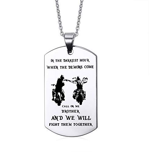 Engraving Dog Tag Pendants For Men Stainless Steel Necklaces Unique Personalized Gift,Motorcycle,60cm 24 Inches -