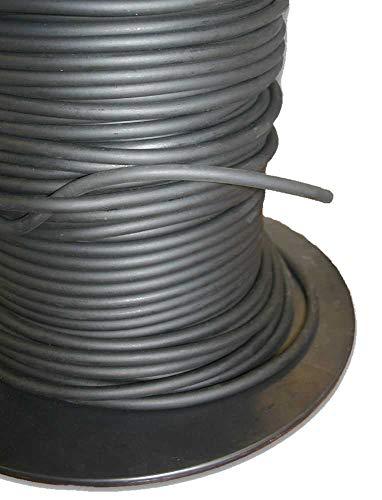 PVC Tube Online Ltd 8 mm de Néoprène éponge Cordon en Caoutchouc Noir à cellules fermées en Mousse, Noir, 4 Metres
