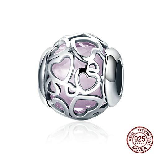 s für Armbänder, Sterling Silber Shiny Colorful Jewelry Hollow Beads für European Bracelet Necklace,5 ()