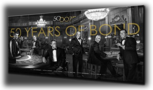 All James Bonds 50Th Anniversary Canvas Print